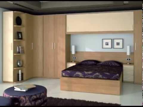 Dormitorios clasicos y modernos modulares tipo puente con armarios esquineros youtube - Imagenes de muebles esquineros ...