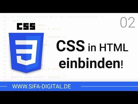 CSS Grundkurs: CSS In HTML Einbinden! #02 (4K) | SIFA Digital