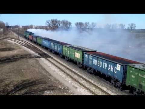 [LDz] 2ТЭ10М-3424 / 2TE10M-3424 ( Daugavpils - c.p. 387 km ) + SMOKE!