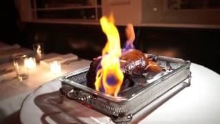 Roast Duck Flambe at Beatrice Inn