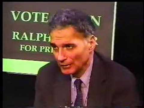 Green Party 1996 Convention - Nader interviews