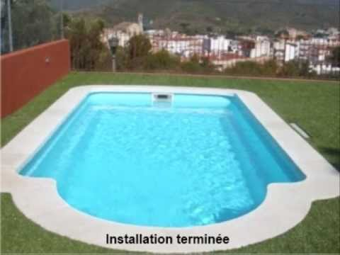installation piscine coque youtube. Black Bedroom Furniture Sets. Home Design Ideas