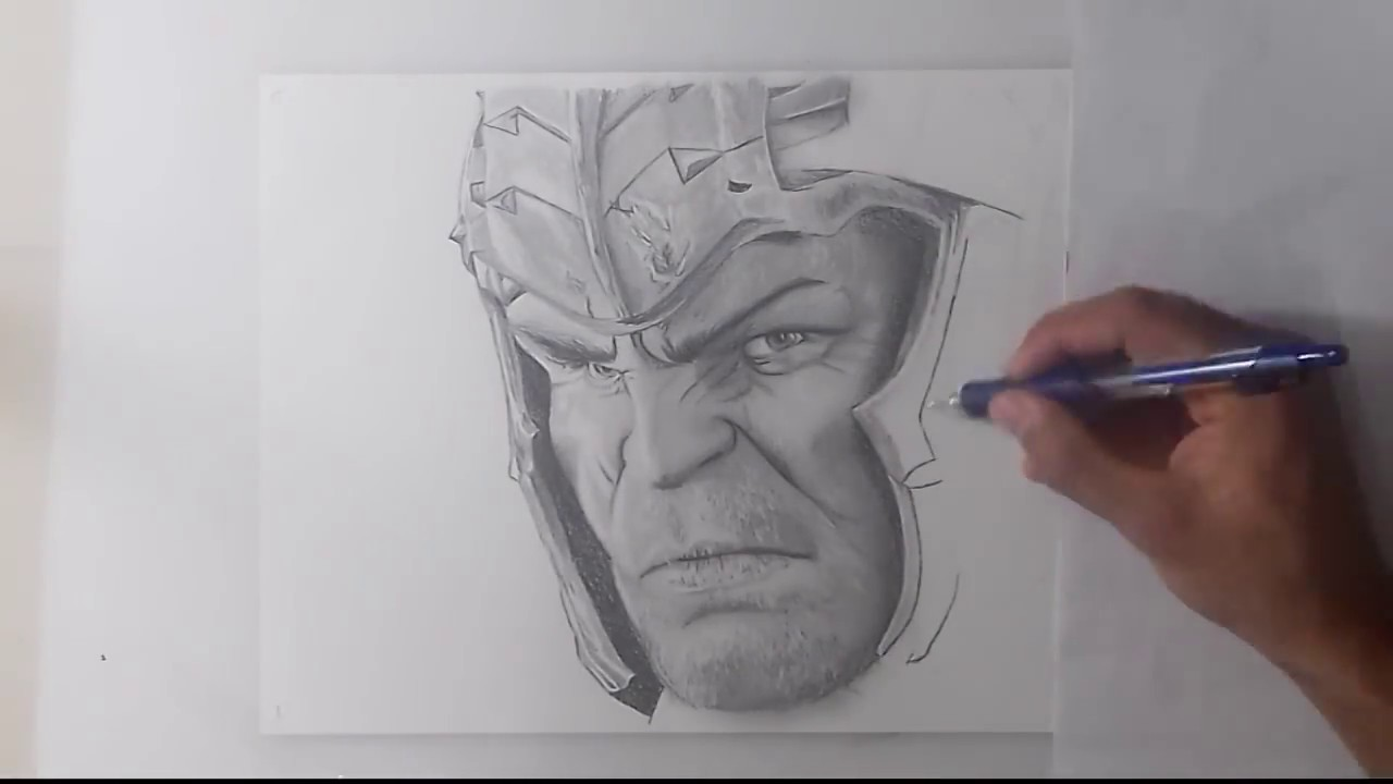 Speed Drawing Hulk U0026quot;Thor Ragnaroku0026quot; - YouTube