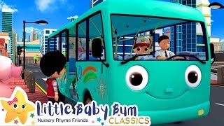 The Wheels On The Bus Song! + More Nursery Rhymes & Kids Songs - ABCs and 123s | Little Baby Bum