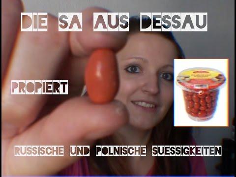 Die Sa aus Dessau probiert russische und polnische Süssigkeiten ... | {Süßigkeiten & gebäck 35}