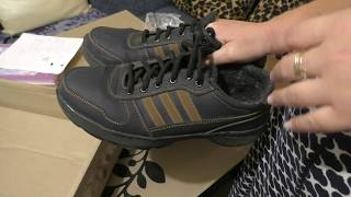 Покупка обуви для мужа на аукционе Кашалот