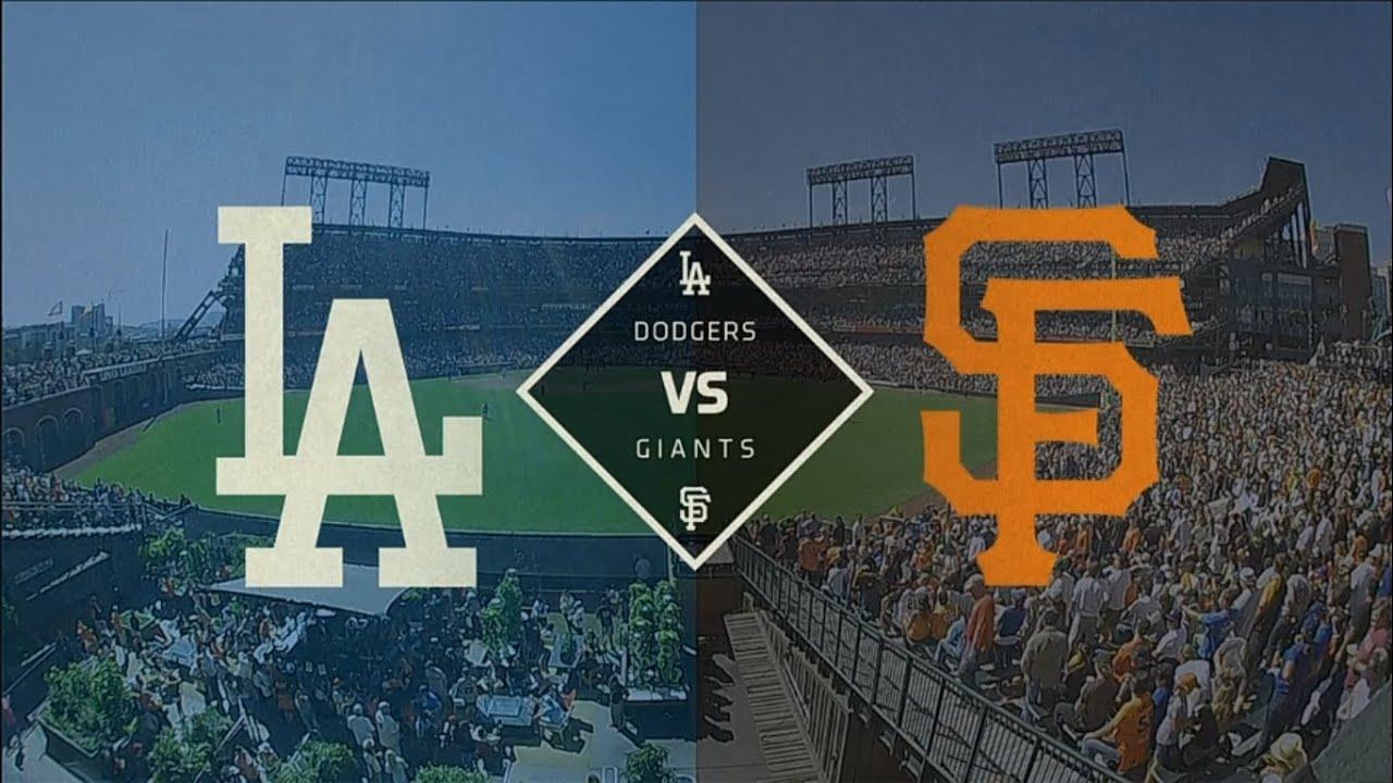MLB San Francisco Giants vs Los Angeles Dodgers Game 2 - YouTube