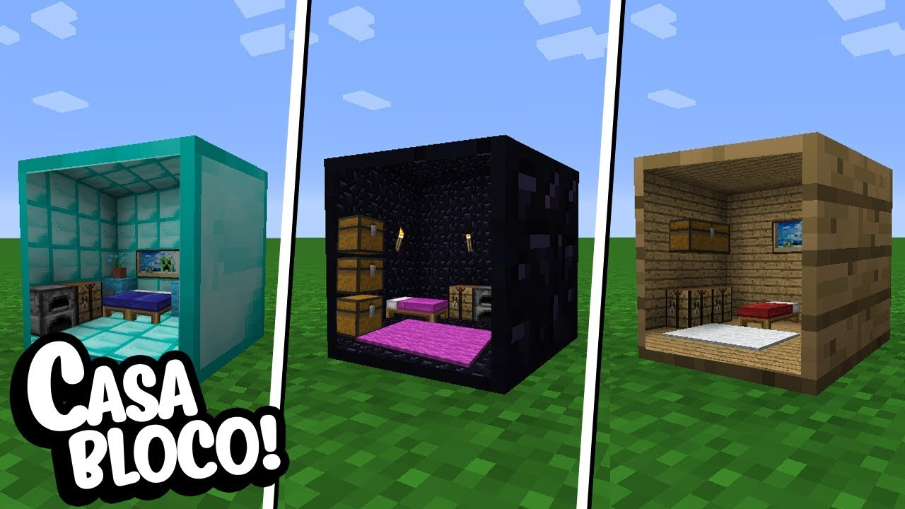 Minecraft como fazer uma casa dentro de qualquer bloco do for Como criar peces ornamentales en casa