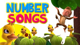 Number Songs | Learn Number 1 to 10 |Nursery Rhymes for Children | Infobells
