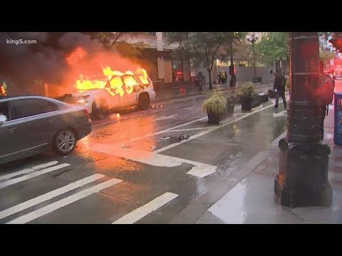 Sunday Protests In Seattle Stay Peaceful, Demonstrators Loot Stores In Bellevue