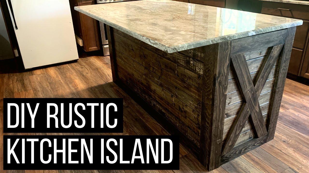 Diy Kitchen Island Rustic Kitchen Island Makeover Under 150 Youtube