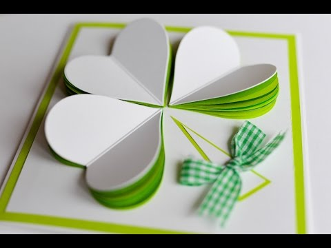 How to Make - St Patricks Day Spring Greeting Card - Step by Step | Kartka Na Dzień Św Patryka