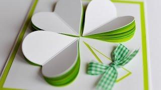 How to Make - St Patrick's Day Spring Greeting Card - Step by Step | Kartka Na Dzień Św Patryka