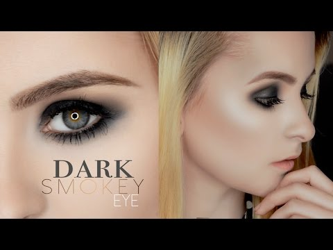 Simple Dark Smokey Eye Makeup Tutorial