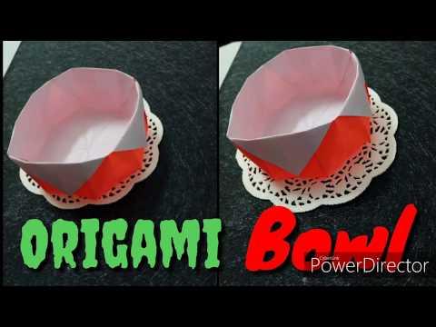 Diy Origami Paper Bowl/Paper Bowl tutorial