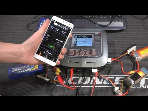 SkyRC Q200 QUATTRO ... управляем зарядкой с помощью телефона и компьютера