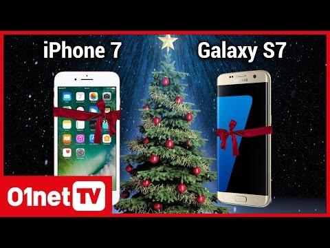 iPhone 7 vs. Galaxy S7 : le meilleur smartphone pour Noël 2016 ?