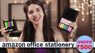 Amazon Office Stationery Haul **UNDER ₹500** Quirky Desk Items from Amazon India 2019! | Heli Ved