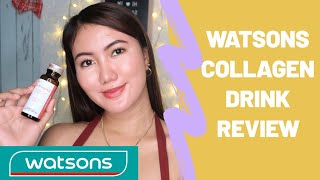 WATSONS COLLAGEN DRINK REVIEW | PAANO MAGING GLOWING IN 3 DAYS? ~Sasay G.