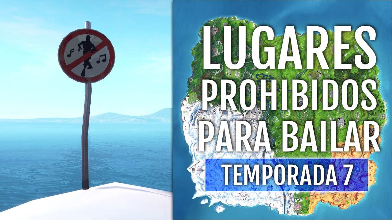 UBICACIÓN 5 LUGARES PROHIBIDOS DE BAILE (TEMPORADA 7) FORTNITE BATTLE ROYALE YouTube