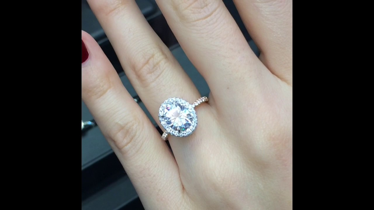 Two Tone Moissanite Engagement Rings
