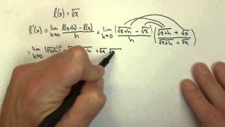 derivative of square root of x using limit definition calc1 21pt5