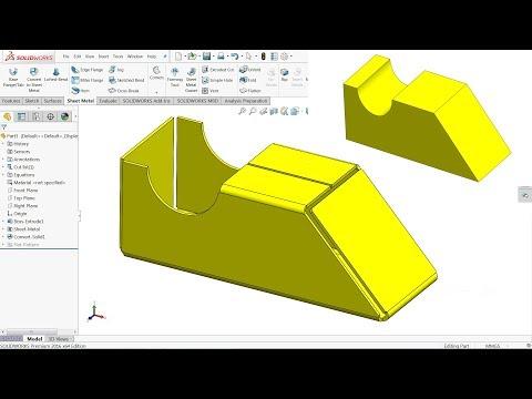 Solidworks Tutorial Sheet Metal Cone Doovi