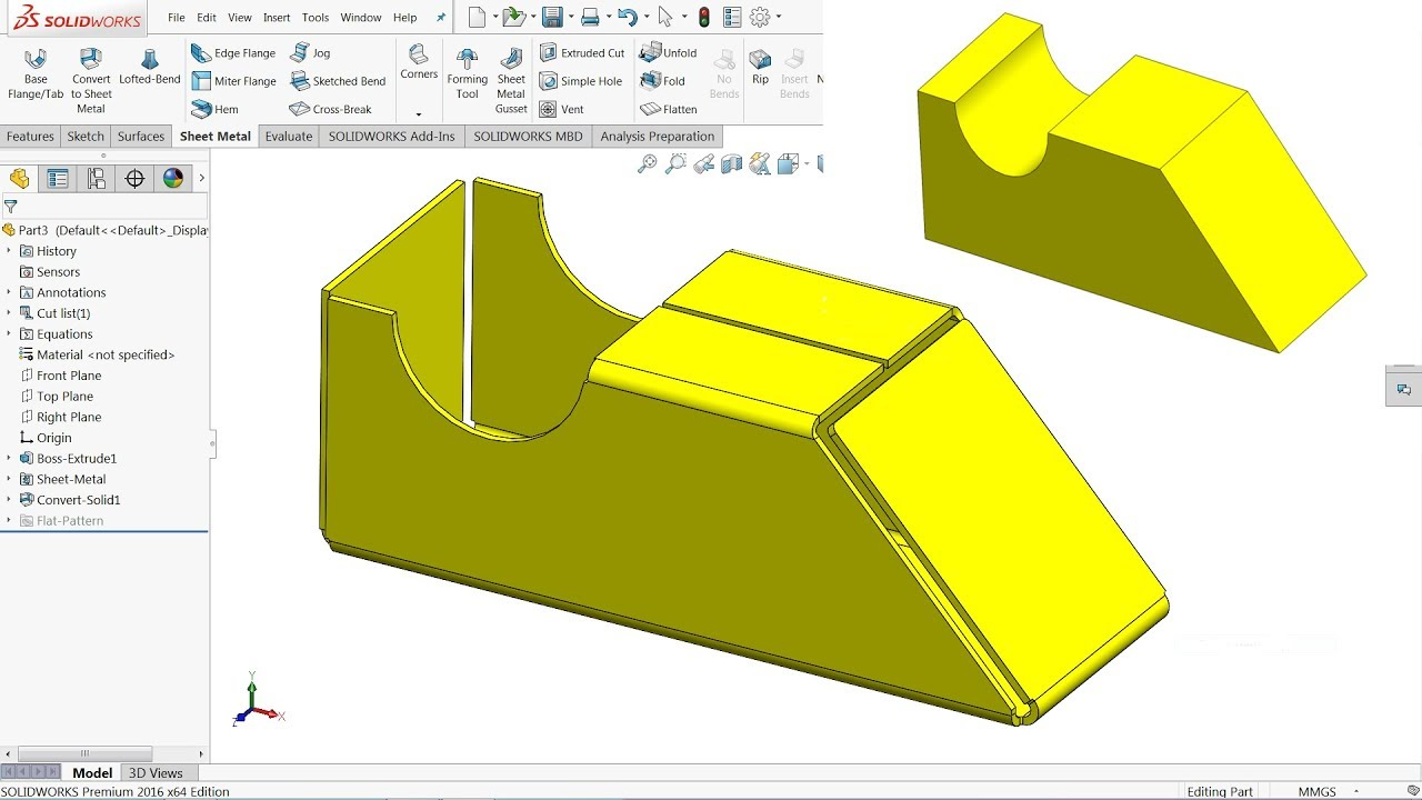 How To Convert 3d Part Into Sheet Metal In Solidworks
