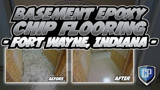 Basement Epoxy Chip Flooring - Fort Wayne Indiana