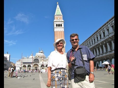 PIAZZA SAN MARCO - St MARK'S SQUARE, St MARK'S BASILICA and THE CAMPANILE, VENICE