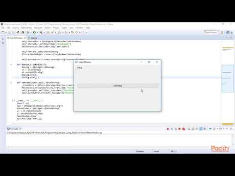 Python GUI Programming Recipes using PyQt5 : Calling Dialogs from the Main Window | packtpub.com
