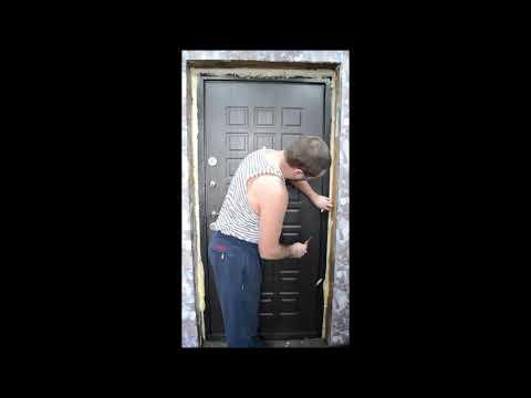 Отделка входной двери МДФ панелями своими руками
