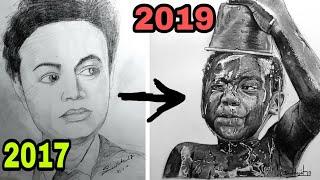 My drawing progress  2017 -to- 2019