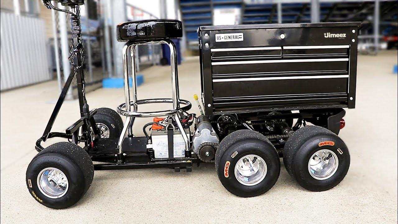 Bitchin Bar Stool Cart Electric Toolbox Tandem Wheels