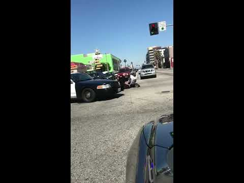 Woman attacks Long Beach Police Officer Anaheim and Pacific