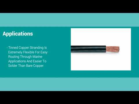 MARINE BATTERY CABLE UL 1426 TINNED COPPER WIRE