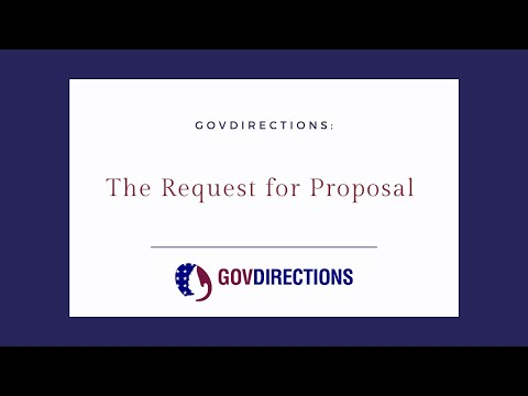 The Request for Proposal GovDirections