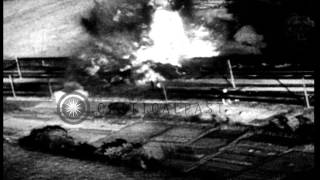 Allies Attack German Positions Near The End Of World War 2 In Europe.  Various Vi...HD Stock Footage