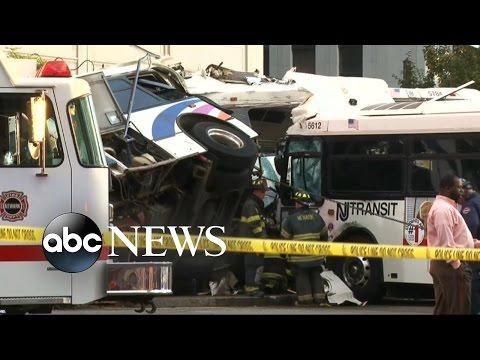 Deadly Bus Crash in Newark, NJ