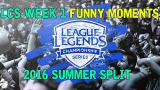 LCS Week 1 Funny Moments - 2016 Summer Split