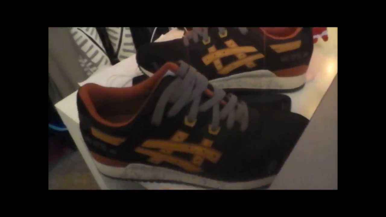 Asics Gel Lyte III Black & Tan UnboxingOn Feet