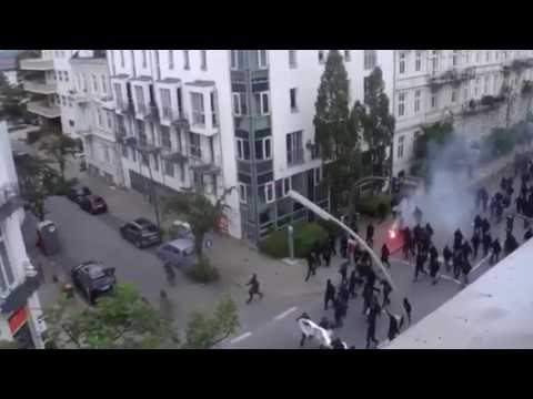 ANTIFA RIOTS IN HAMBURG, GERMANY
