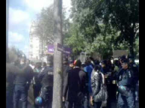 Manifestation contre Remise du Prix Félix Houphouët-Boigny à l'UNESCO