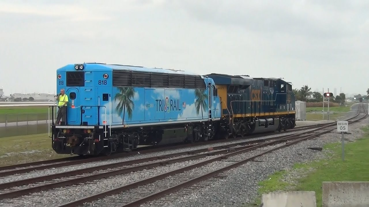 Hd Tri Rail Special On The Florida East Coast Railway