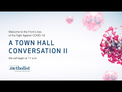 Town Hall Conversation II: The Front Lines Of The Fight Against COVID-19 (Marc L. Boom, MD) 05/07/20