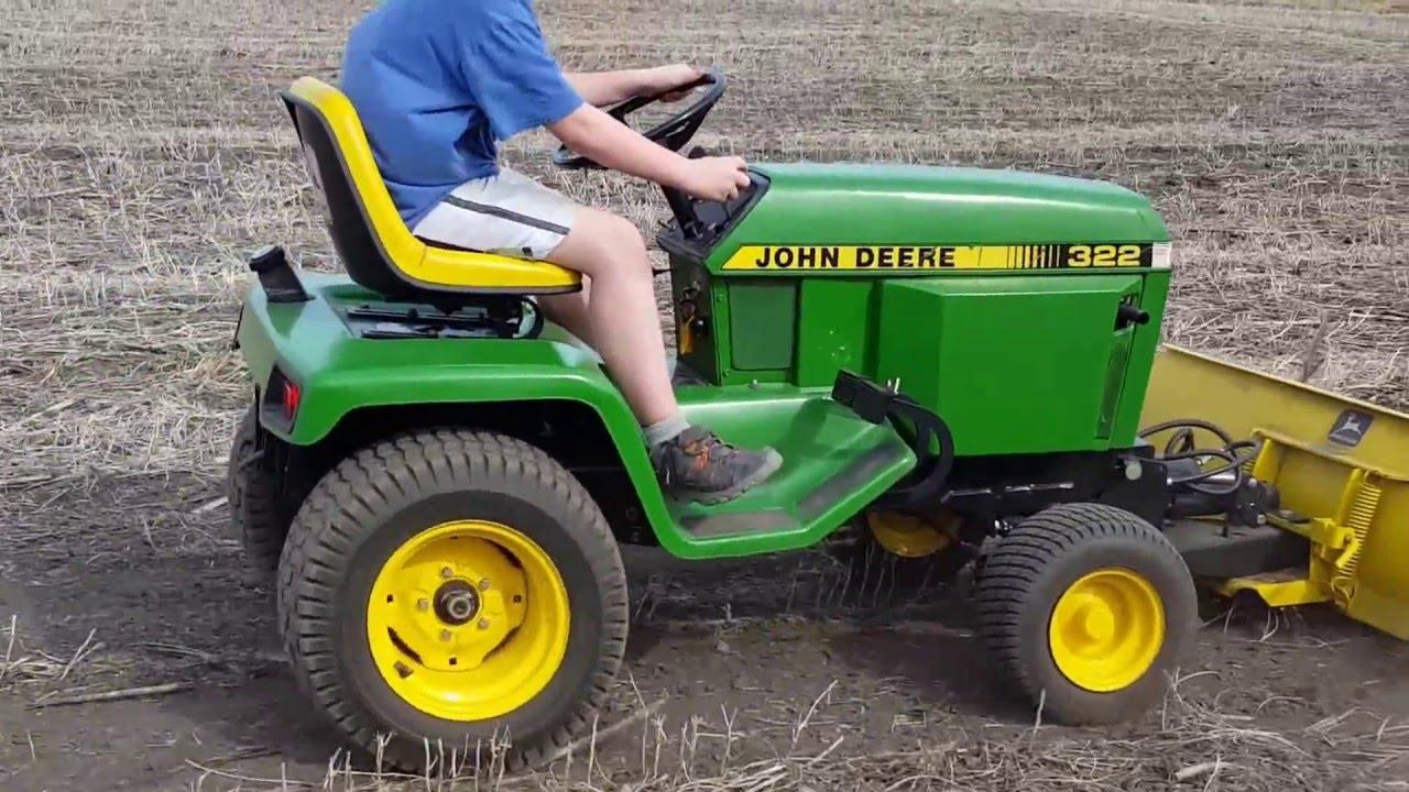 john deere 322 garden tractor with 4 way blade youtube