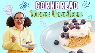 Classic Latin American Dessert With a Twist   Cornbread Tres Leches   Pastries with Paola