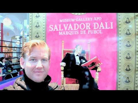 BRUGES BELGIUM - Salvador Dali Museum  - Daze With Jordan The Lion #487 (12/6/2017)