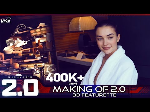 Behind the scenes as Dubai influencer Elnaz gets Amy Jackson ready for #2point0audiolaunch!