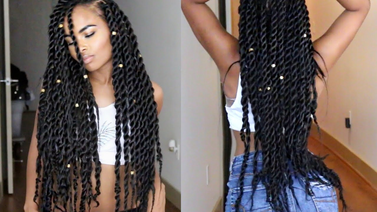 senegalese havana jumbo twists natural hair tutorial